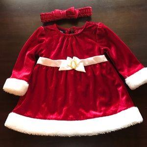 NWT 3-6 month Christmas dress and headband